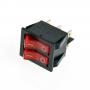 Выключатель режимов водонагревателя, Ariston 65150778, 2 красн. клавиши