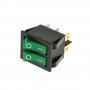 Выключатель режимов водонагревателя, Ariston 65150778, 2 зел. клавиши