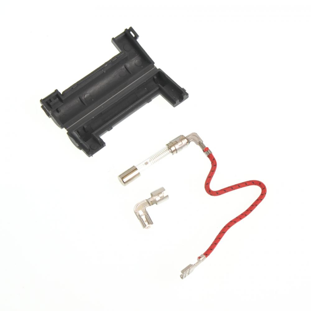 Предохранитель высоковольтный 0.8A, 5KV в корпусе, один провод.
