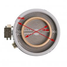 Конфорка (стеклокер.), D внутр. - 175/110mm, 1700/700W, с расширеннием