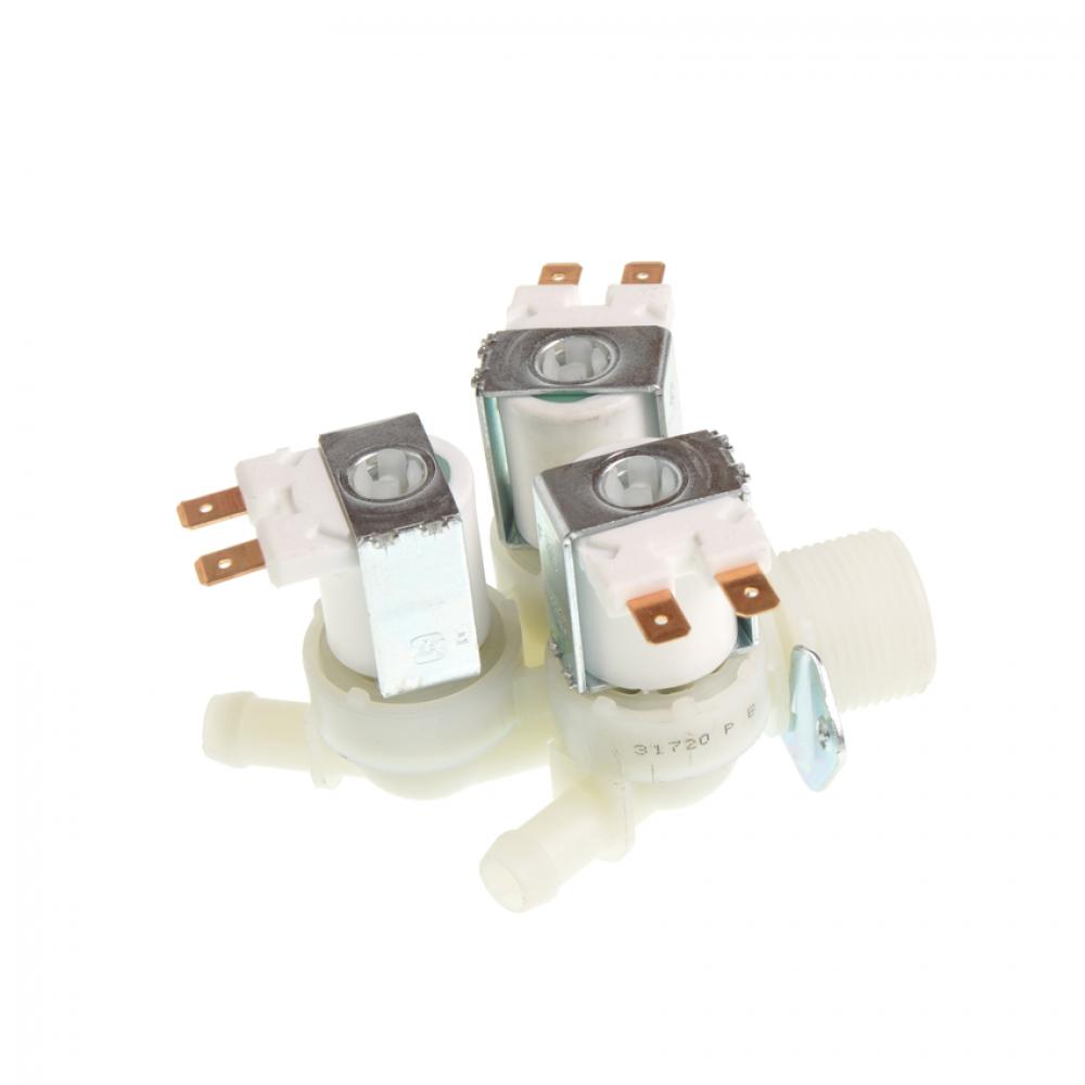 Электроклапан 3W x 180°, INDESIT 375215, пластик. крепеж